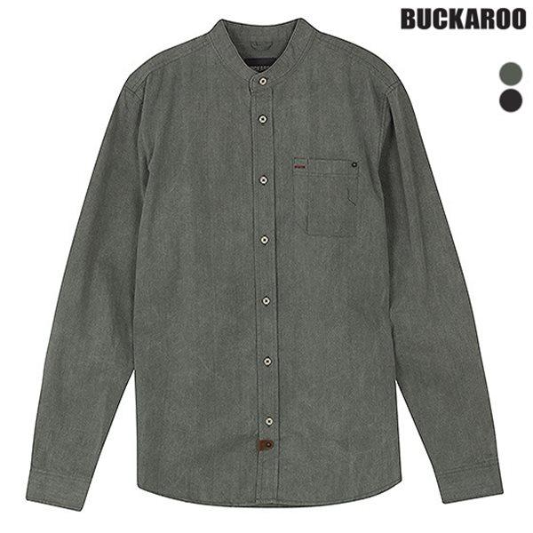 [BUCKAROO]남성 면20수 트윌슬럽 피그먼트 헨리넥셔츠(B151SH110P)