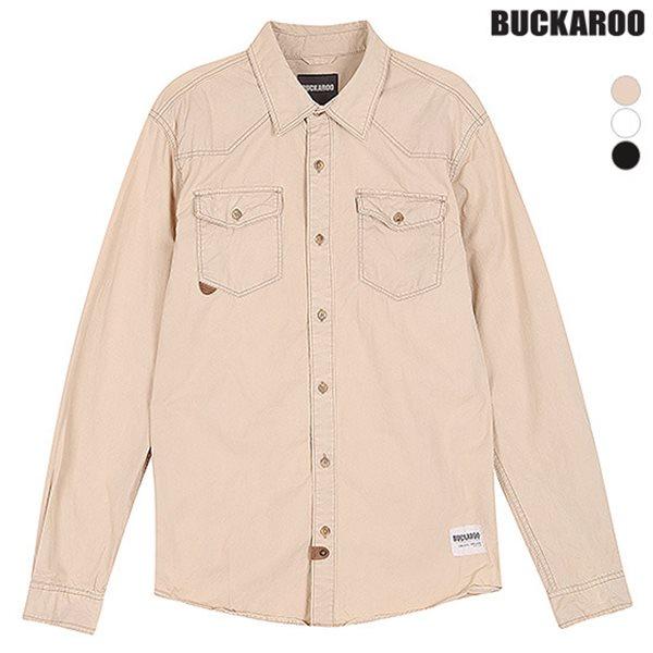 [BUCKAROO]남성 면40수 트윌 바이오 탈색 셔츠(B151SH140P)