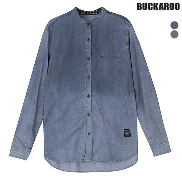 [BUCKAROO]여성 면30수 피그먼트 중박스 헨리넥 셔츠(B151SH530P)