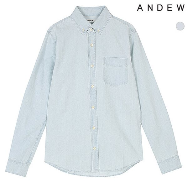 [ANDEW]남성 긴팔 기본 데님셔츠(O151SH130P)
