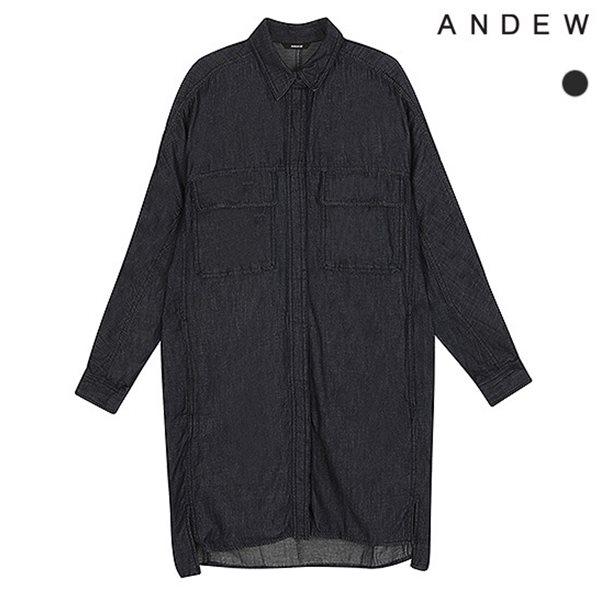 [ANDEW]여성 롱 진청 데님 셔츠(O153SH510P)