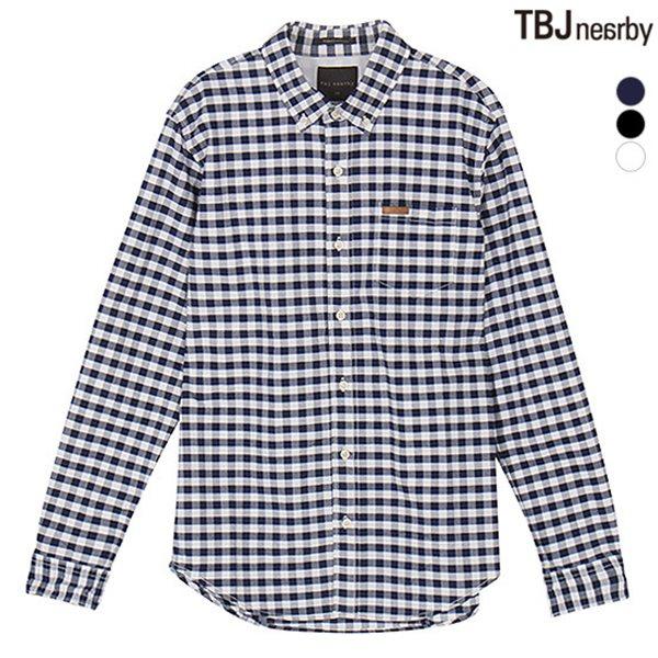 [TBJ]남성 옥스퍼드 체크 셔츠(T151SH011P)