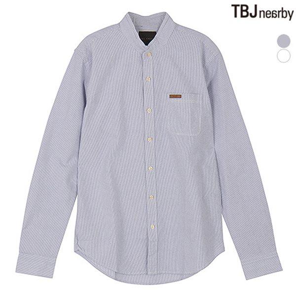 [TBJ]남성 옥스퍼드 스트라이프 차이나카라 셔츠(T151SH012P)
