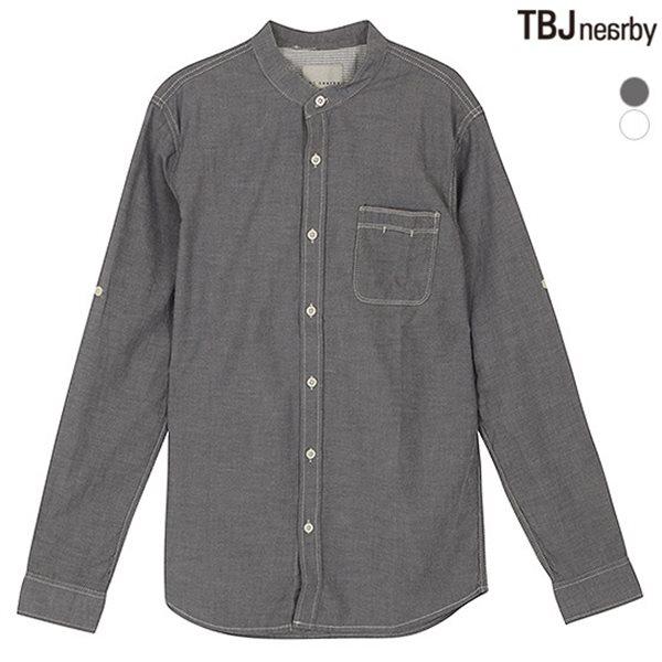 [TBJ]남성 샴브레이 차이나카라 셔츠(T151SH040P)