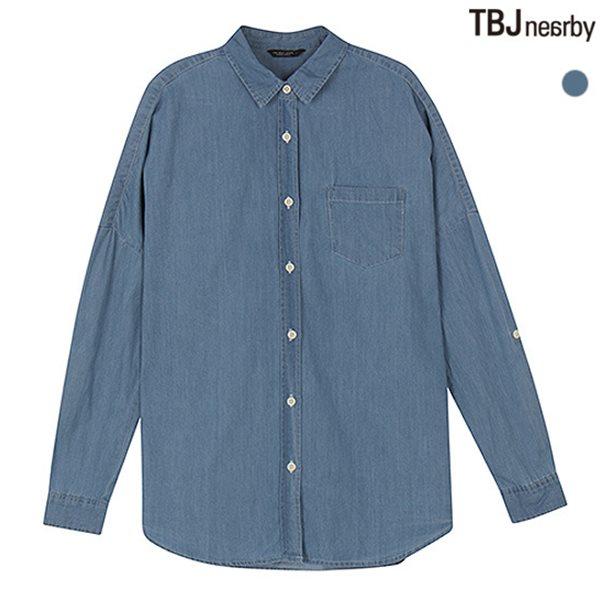 [TBJ]여성 중기장 준박스 해지 셔츠(T151SH620P)
