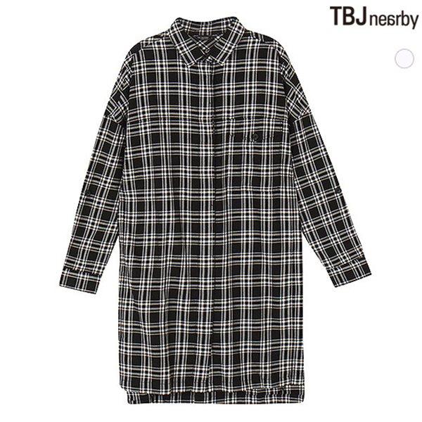 [TBJ]여성 셔켓형 뒷판프린트 체크 셔츠(T153SH850P)