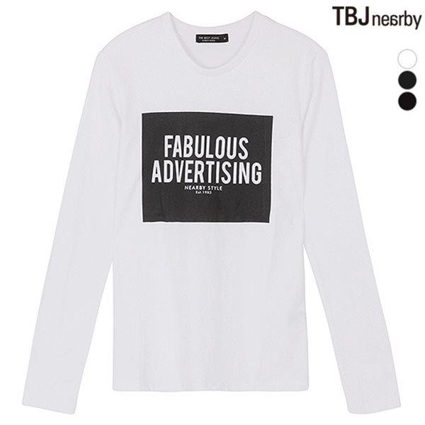 [TBJ]유니 라운드 BK&WH 아트웍 티셔츠(T151TS010P)