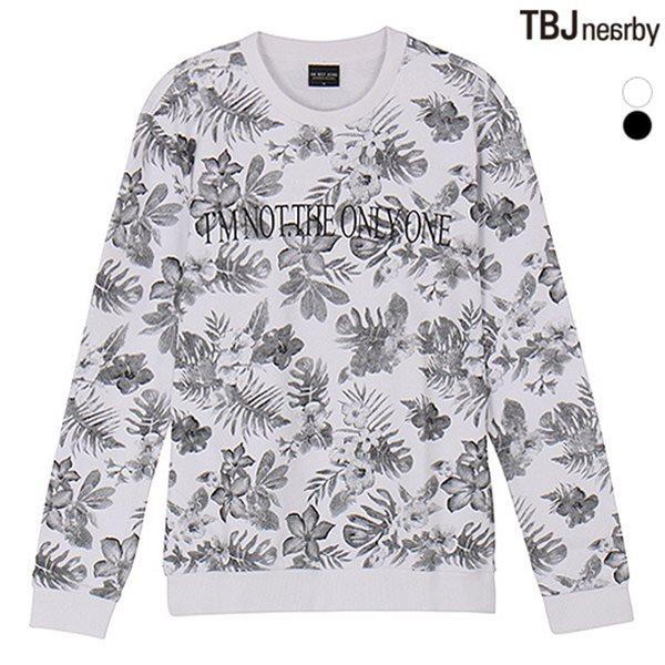 [TBJ]남성 라운드 전판프린트 맨투맨 티셔츠(T151TS140P)