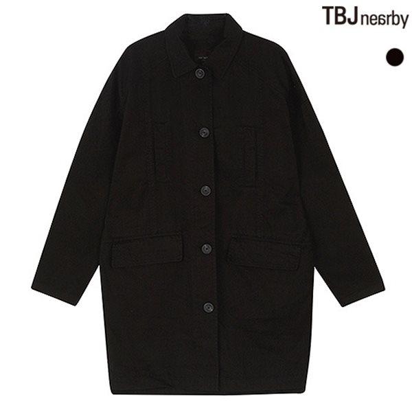 [TBJ]여성 롱기장 DROP소매 싱글 코트(T151JP920P)