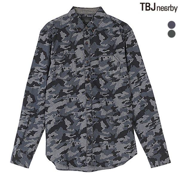 [TBJ]남성 전판 밀리터리 셔츠(T151SH110P)