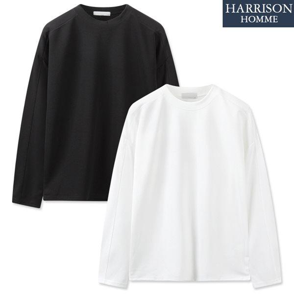 [해리슨] 코듀로이 오버핏 라운드 긴팔 티셔츠 RTW1431
