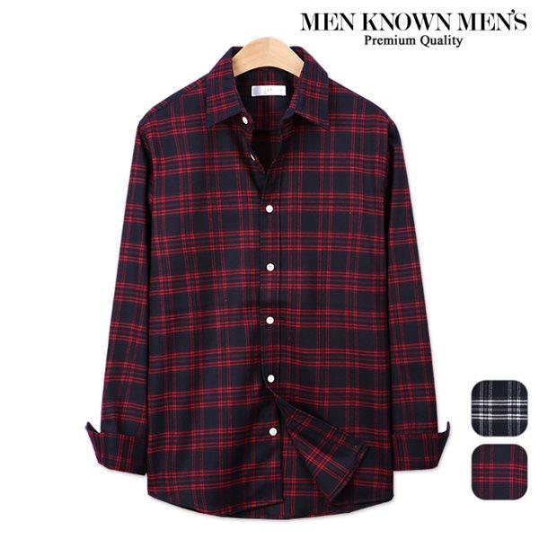 [MKM9]남자 봄 패션 에이블 타탄 체크셔츠