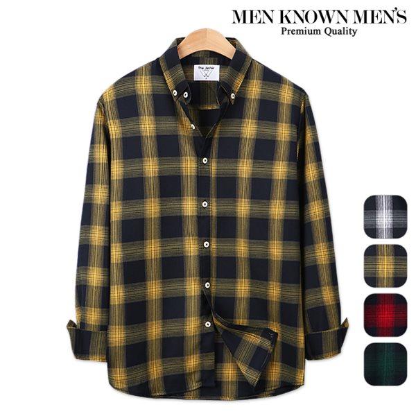 [MKM9]남자 봄 패션 위너 마드라스 체크셔츠
