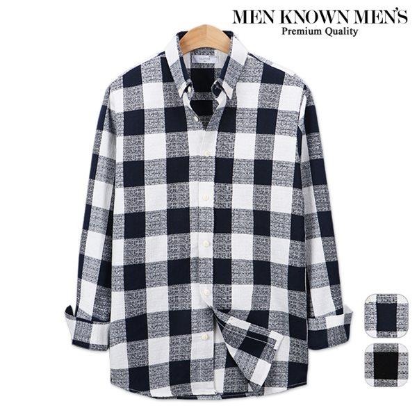 [MKM9]남자 봄 패션 모즈 깅엄 체크셔츠
