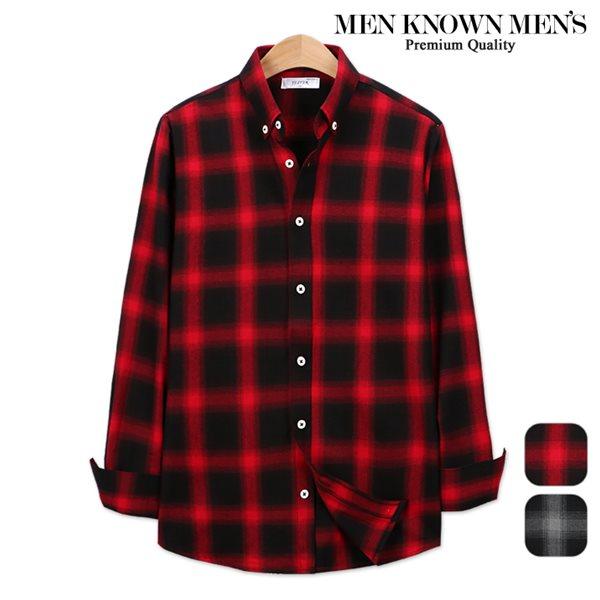 [MKM9]남자 봄 패션 리치 타탄 체크셔츠