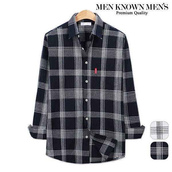 [MKM9]남자 봄 패션 위키드 스트라이프 체크 셔츠