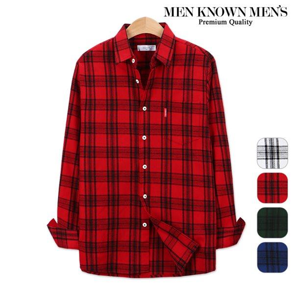 [MKM9]남자 봄 패션 샤인 마드라스 체크셔츠