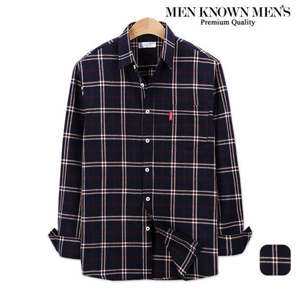 [MKM9]남자 봄 패션 센트 마드라스 체크셔츠