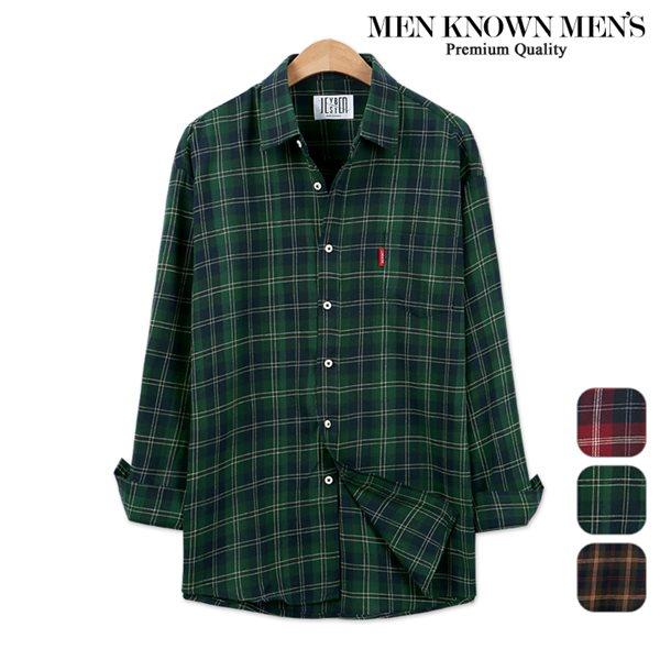 [MKM9]남자 봄 패션 오버핏 크로스 마드라스 체크셔츠