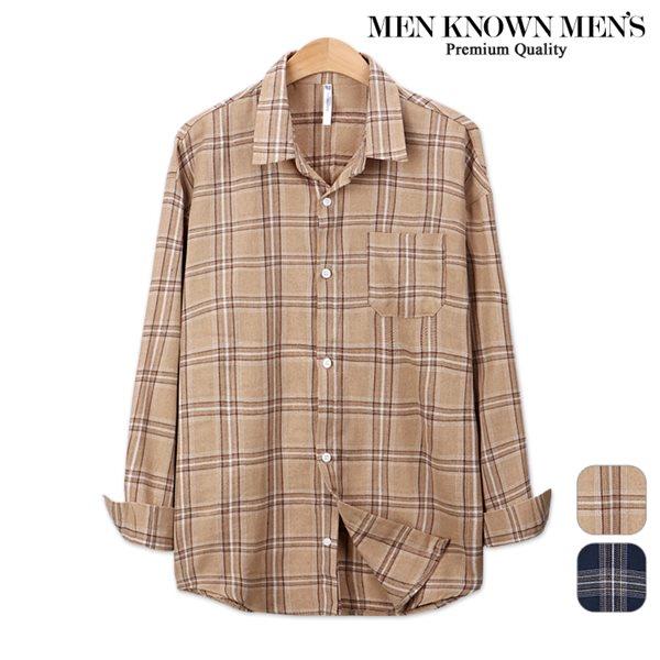 [MKM9]남자 봄 패션 오버핏 BB 마드라스 체크셔츠