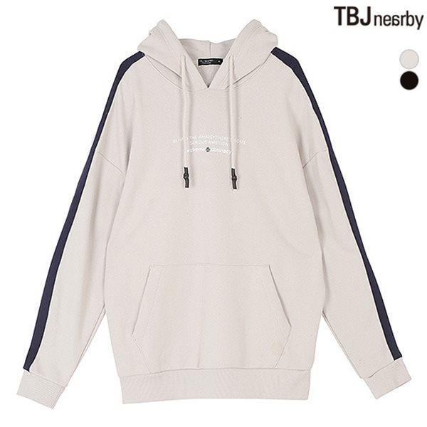 [TBJ]남성 어깨 테잎배색 후드 풀오버(T181TS310P)