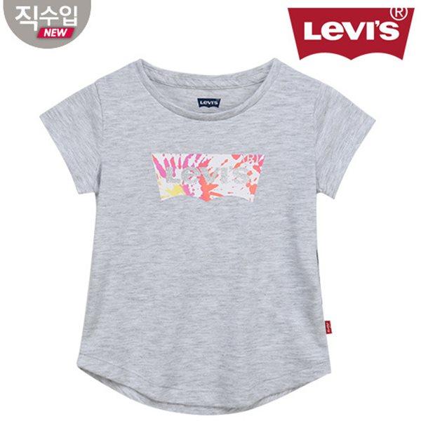 [리바이스키즈] 여아배트윙 티셔츠(반팔)L VNM11ATS68 (키즈)