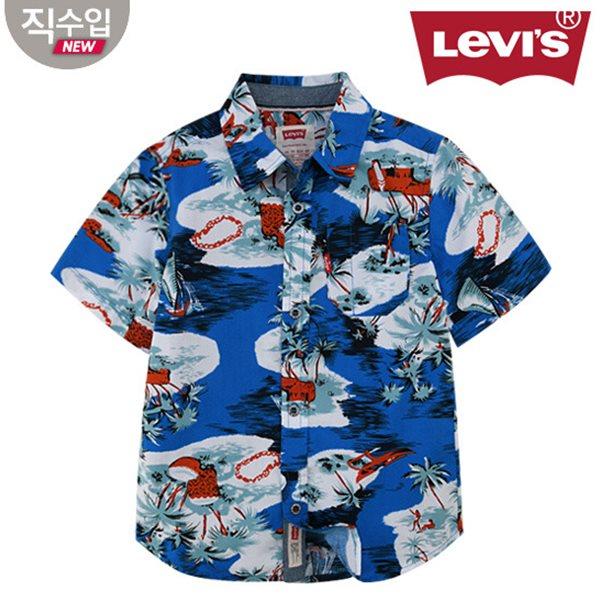 [리바이스키즈] 프린트 셔츠(반팔)L VNM11QSH44 (키즈)