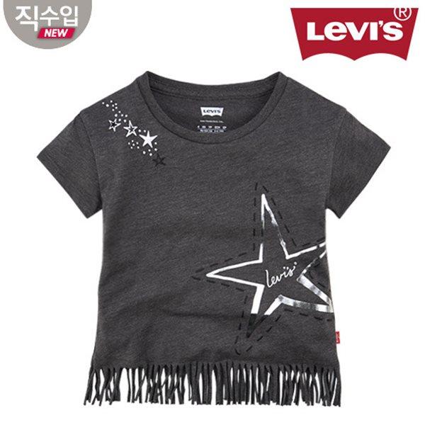 [리바이스키즈] 프린지 티셔츠(반팔)B VNM13ATS71 (주니어)
