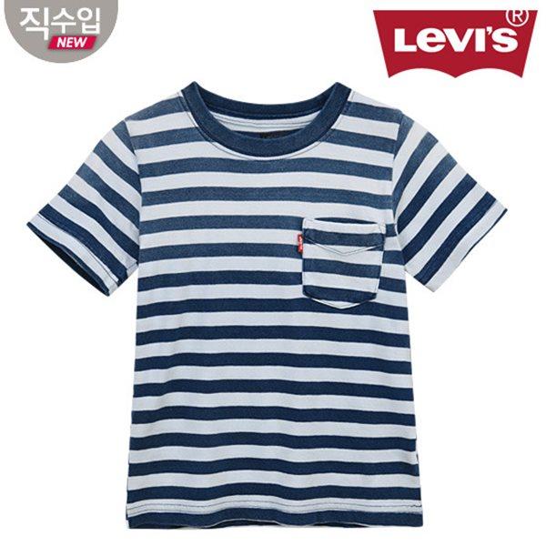 [리바이스키즈] 인디고 선셋포켓티셔츠(반팔)B VNM13QTS27 (주니어)