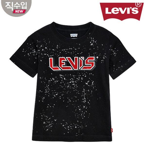 [리바이스키즈] 빈티지워싱 티셔츠(반팔)B VNM13QTS28 (주니어)