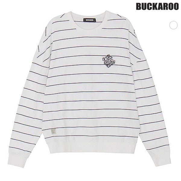 [BUCKAROO]유니 20수 선염 STRIPE R넥 티셔츠(B181TS080P)
