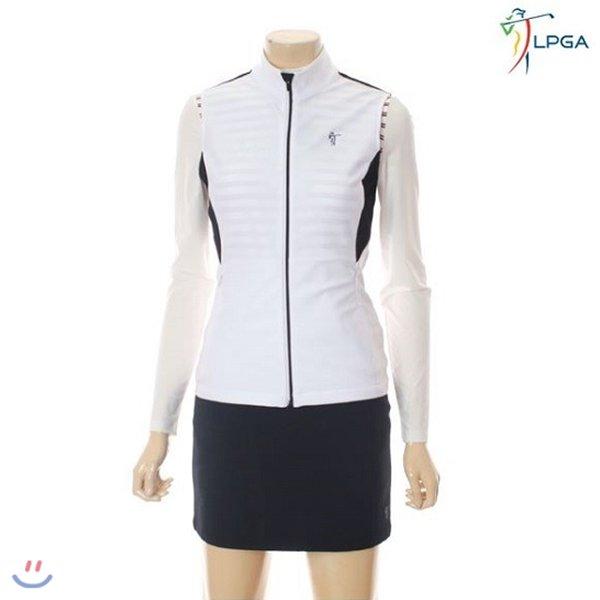 [LPGA]골프웨어 여성 배색 집업 베스트 (L181VT501P)