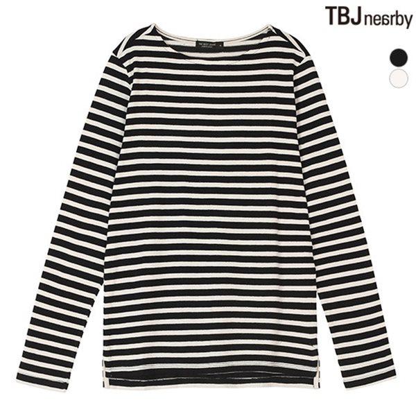 [TBJ]여성 라운드 제기장 스트라이프 티셔츠(T153TS660P)