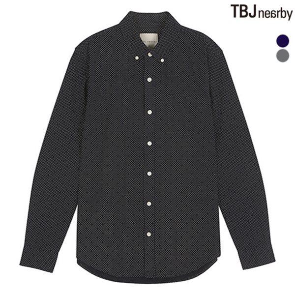 [TBJ]남성 옥스퍼드 셔츠 (솔리드/전판프린트)(T153SH012P)