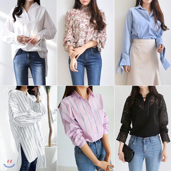 봄신상 여성미UP 러블리 블라우스&셔츠(set605)쉬폰블라우스/플라워/레이스/스트라이프