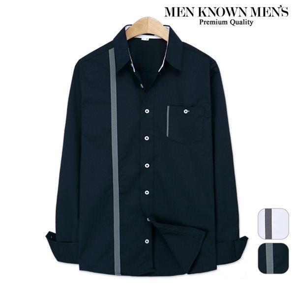 [MKM9]남자 봄 패션 위즐리 라인배색 포멀셔츠