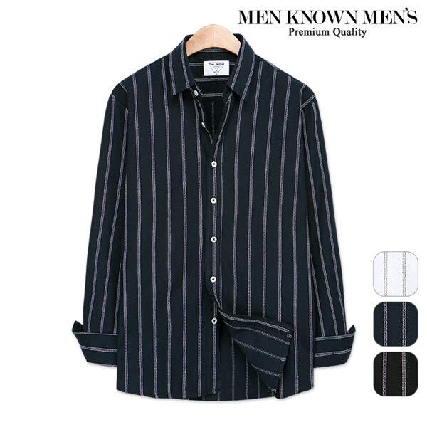 [MKM9]남자 봄 패션 레인 스트라이프 셔츠