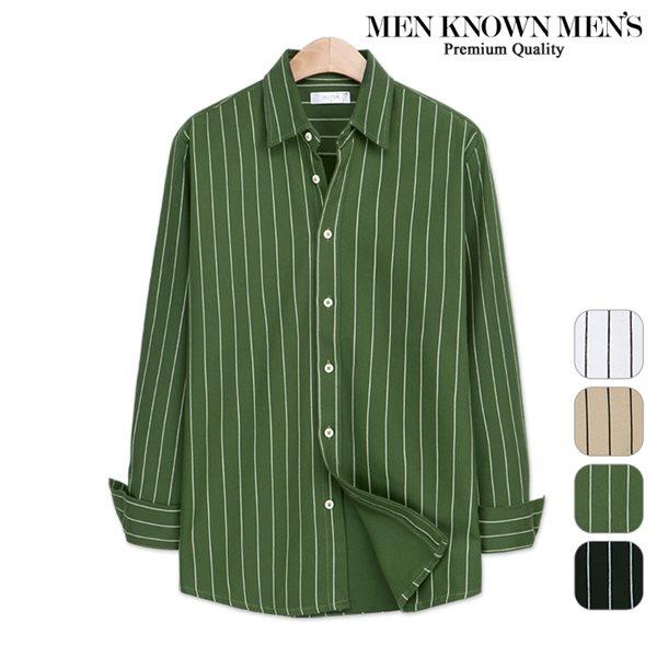 [MKM9]남자 봄 패션 노플핀 스트라이프 셔츠