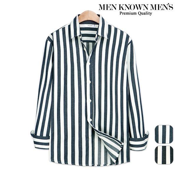 [MKM9]남자 봄 패션 킹볼드 스트라이프 셔츠