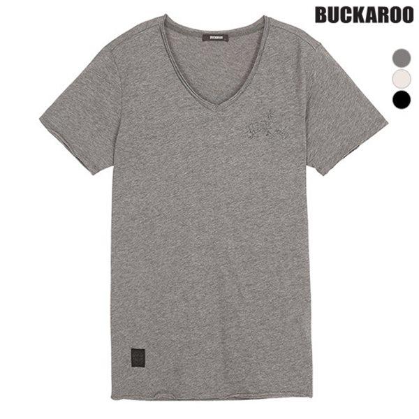 [BUCKAROO]여성 강연슬럽 데끼 V넥 티셔츠(B182Z1105P)