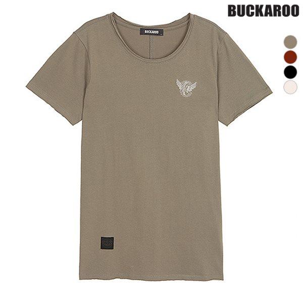 [BUCKAROO]유니 26수 자수포인트 R넥 티셔츠(B182TS040P)