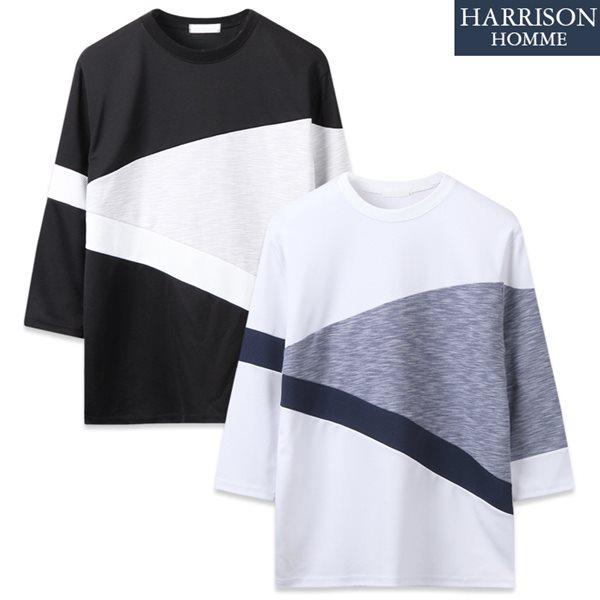 [해리슨] 트라이앵글 7부티셔츠 RTW1251