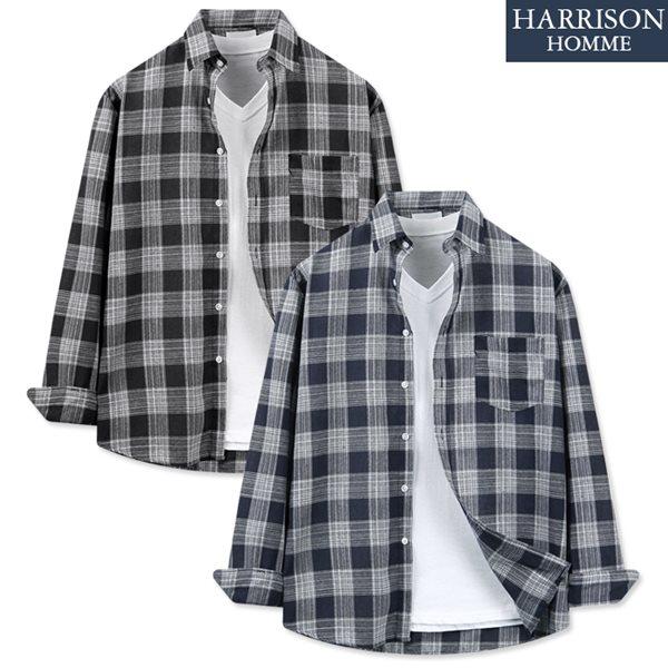 [해리슨] D2 루이 체크 긴팔 셔츠 MET1815