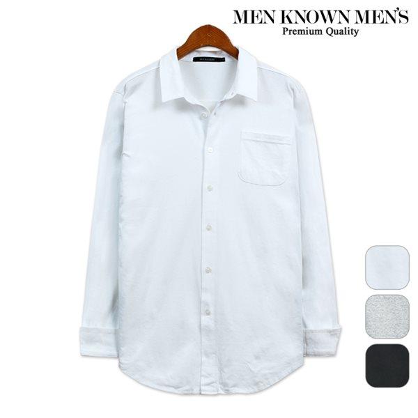 [MKM9]포켓 카라 워싱 면셔츠