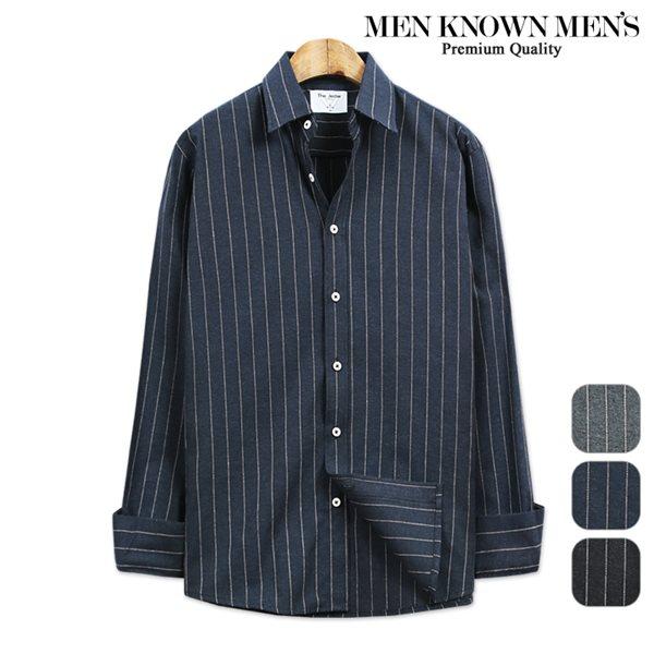 [MKM9]남자 클로이 스트라이프 셔츠