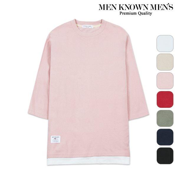 [MKM9]공용 7컬러 데일리 레이어드 7부 티셔츠