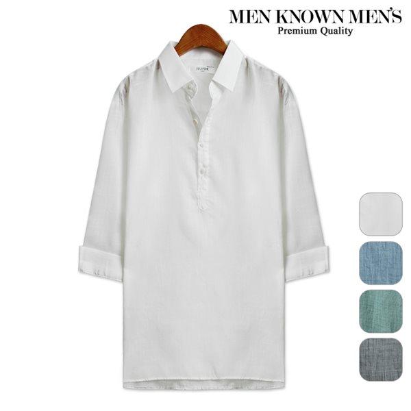 [MKM9]남자 셔츠 파스텔톤 베이직 7부셔츠