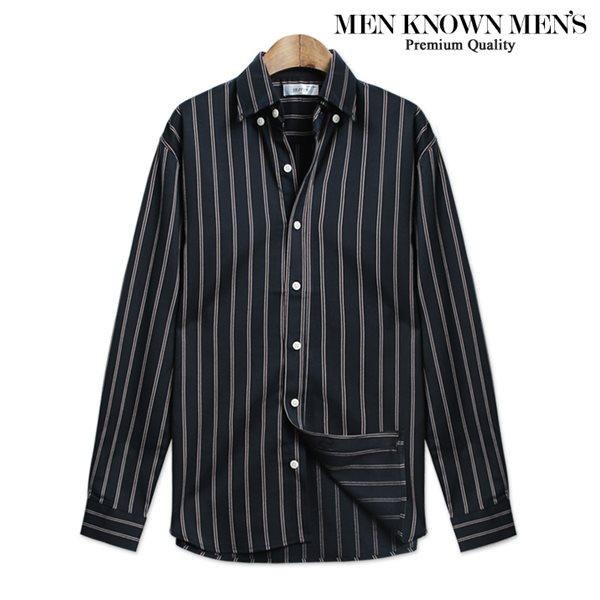 [MKM9]남자 셔츠 슬림핏 G&D 스트라이프 셔츠