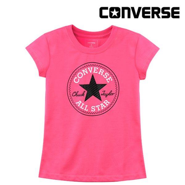 [컨버스키즈] 여아척패치 티셔츠(반팔)B ENM13ATS00 (주니어)