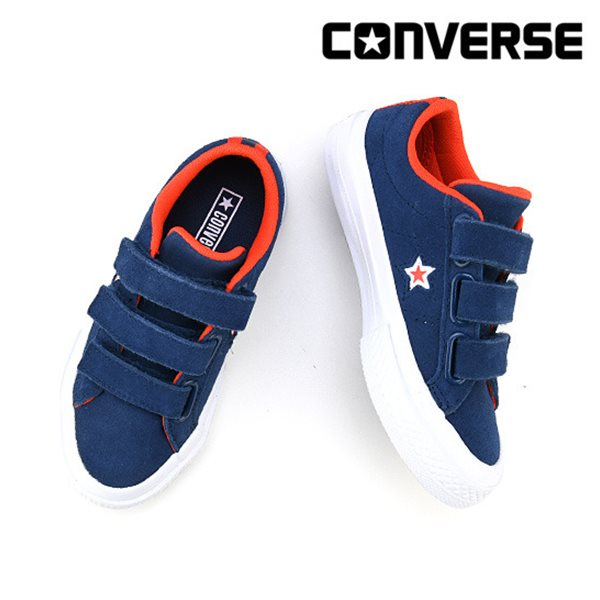 [컨버스키즈] ONE STAR 3V OX NAVY/WHITE/BRIGHT POPPY 660009C (키즈)